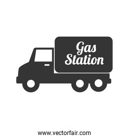 truck gas station icon vector graphic
