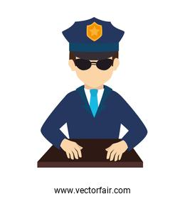 policeman officer security vector graphic icon