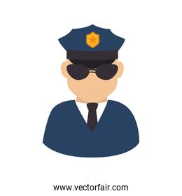 policeman officer security icon isolated