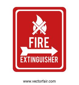 flame fire sign extinguisher prohibitted icon vector graphic