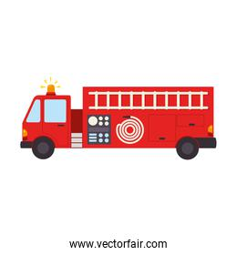fire truck department icon vector graphic