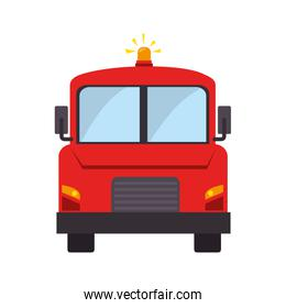 fire truck front fireman department icon vector graphic