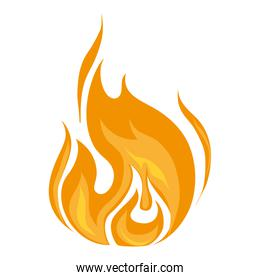 flame fire burn icon vector graphic
