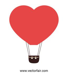 heart balloon hot love icon vector