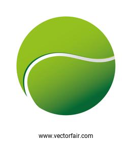 tennis ball sport icon vector