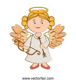 angel musical arch arrow instrument icon vector