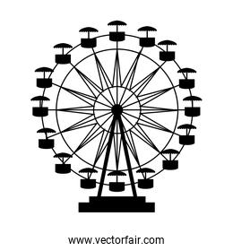 fair attraction icon vector