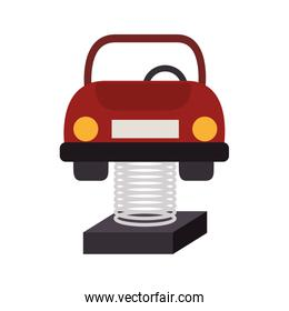 car attraction children kids playground icon vector