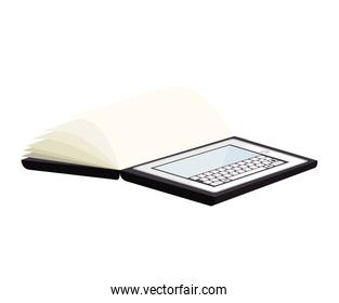 tablet device screen book pagestechnology electronic icon vector