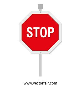 stop sign traffic icon vector