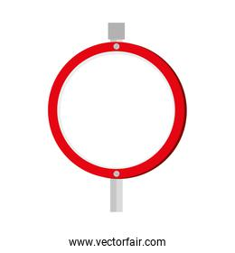 red sign traffic road icon vector