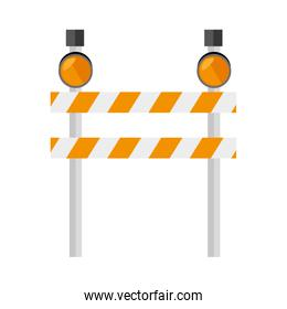 barrier warning lights sign icon vector