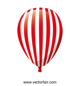 balloon red decoration stripes