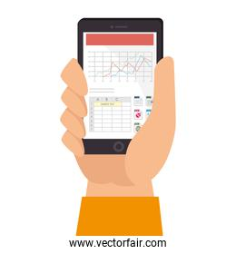spreadsheet file document smartphone mobile