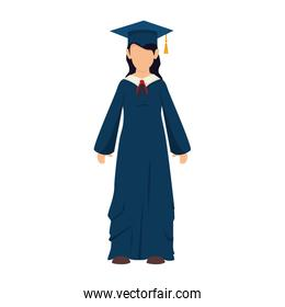 girl graduate gown