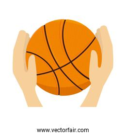basketball ball sport hand
