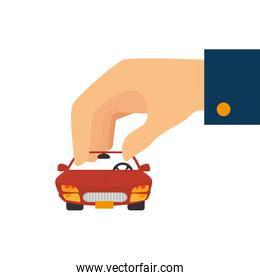 hand with car   vehicle