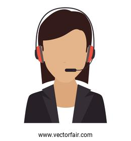person operator headset service assistant