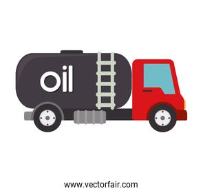 truck oil  gas station