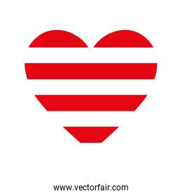 heart love red stripes