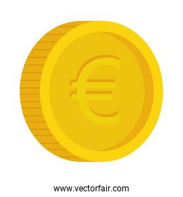 money coins in gold color