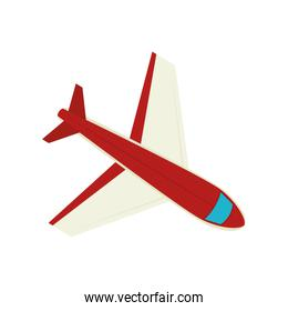 red airplane flying travel