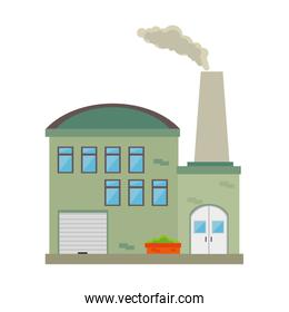 Factory building and industry
