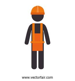 isolated construction man worker