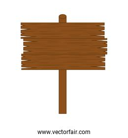 road wooden sign