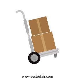 Cargo transportation with hand cart