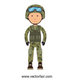 military soldier isolated icon