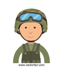 military soldier cartoon