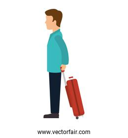 man with a suitcase cartoon