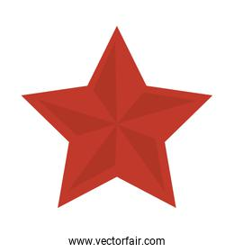 red star shape