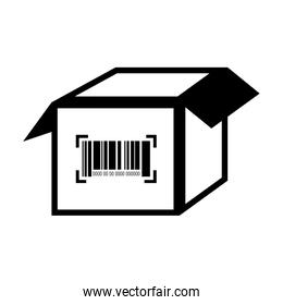 box barcode with serial number