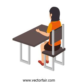woman person working office place