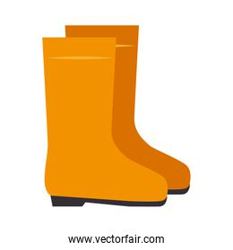 yellow boots industrial security equipment