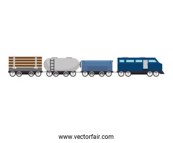 cargo train rail transport vehicle