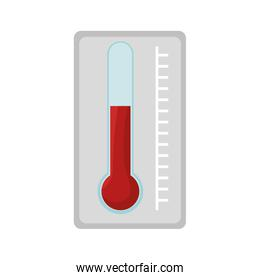 thermometer with scale measuring