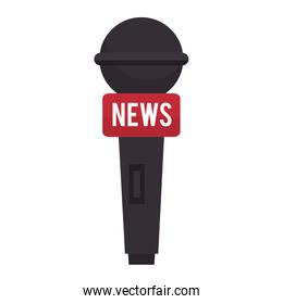 microphone for news journalist