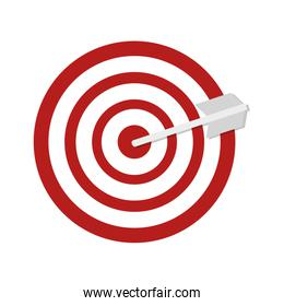 red target and arrow