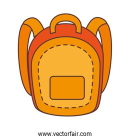 yellow school backpack