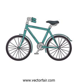 blue classic bicycle