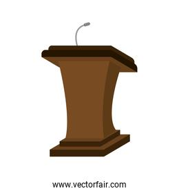 speech podium wooden