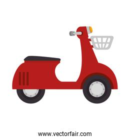red scooter motorcycle