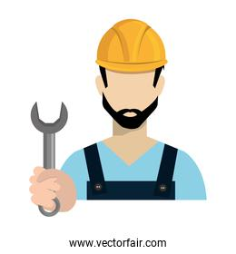 avatar worker holding a wrench tool