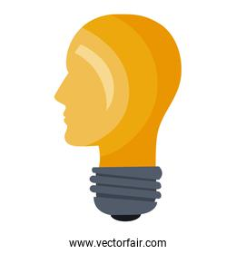 head prfile bulb light shape