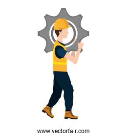 avatar construction worker with a cogwheel