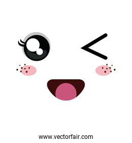 kawaii cartoon emoticon