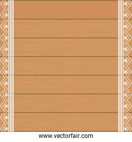 background wooden with ethnical decoration